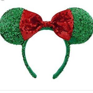 Disney Christmas sequin Minnie Mouse headband